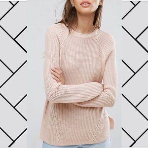 ASOS | blush pink crew neck sweater [NWOT]
